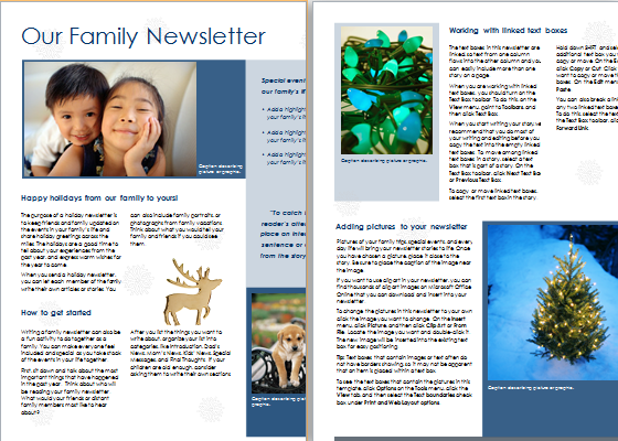 family newsletters document hub