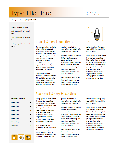 Newsletter Accessory design-4 columns