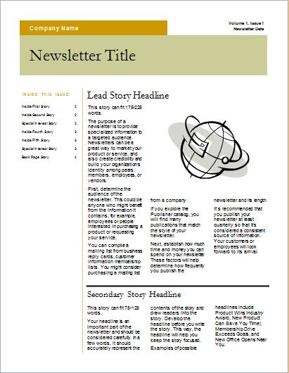 Newsletter bars design 4 pages