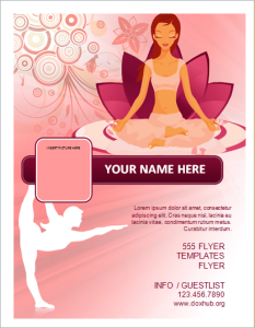 Yoga fitness studio flyer