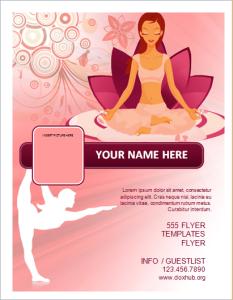 Yoga fitness studio flyer