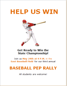 School Sports Pep Rally Flyer