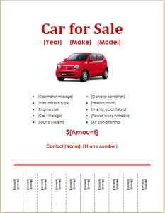 Awesome Car For Sale Flyer On For Sale Poster Template