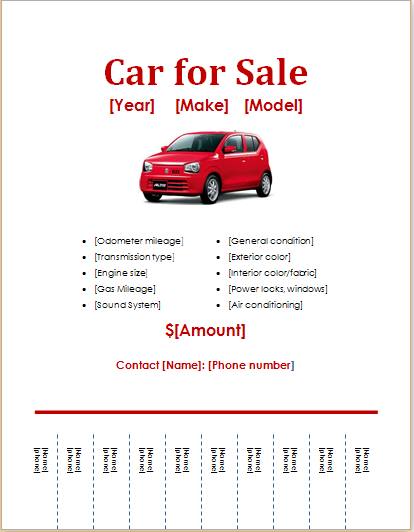 Car For Sale Flyer Document Hub