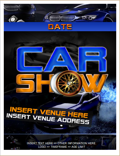 Customizable FLYER TEMPLATES For MS WORD Document Hub - Blank car show flyer