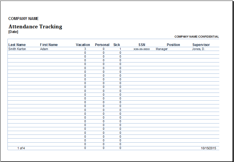 Employee stock options tracking spreadsheet