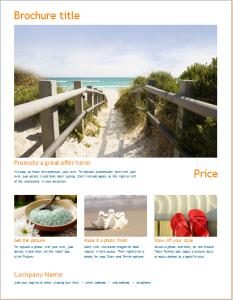 new offer brochure template