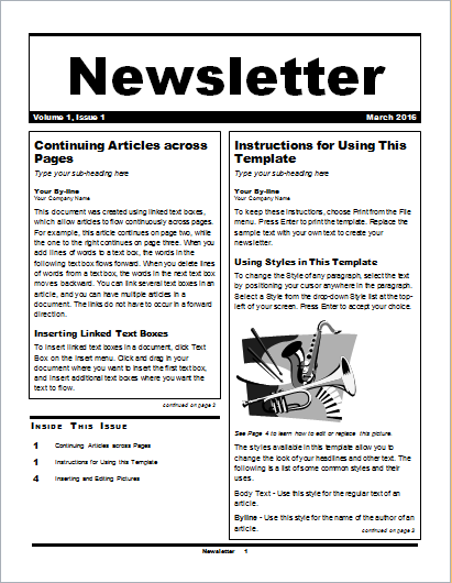 Business Newsletter  Example Of Newsletter Templates