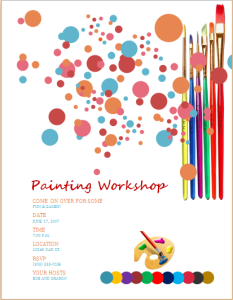 painting workshop flyer
