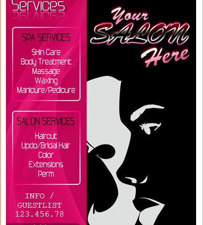 salon services flyer