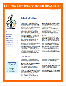 school newsletter template