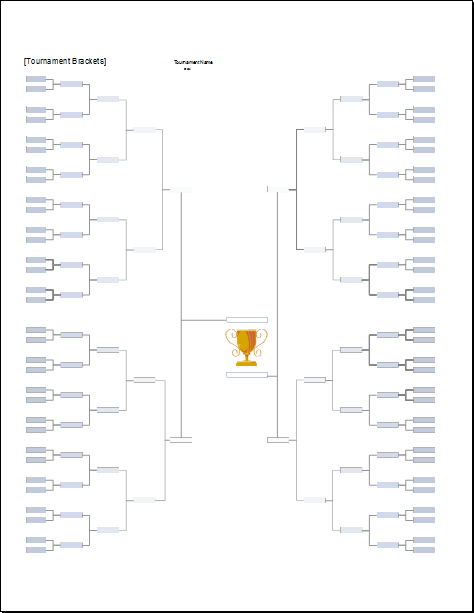 tournament bracket with tracker