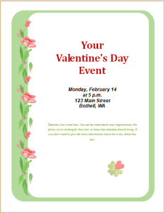 valentine day event flyer