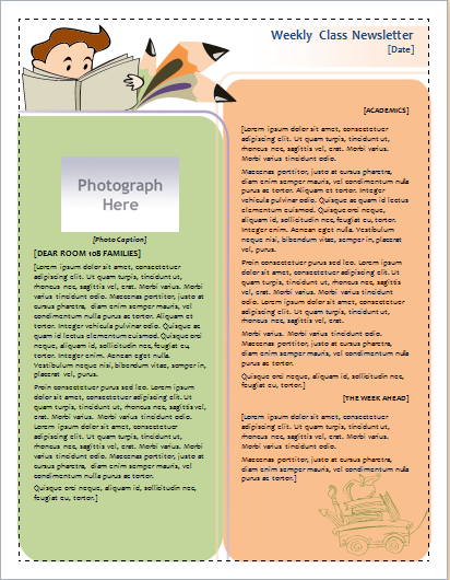 weekly class newsletter