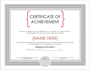 academic achievement certificate document hub