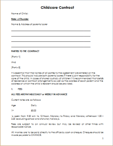 Child care contract template document hub child care contract maxwellsz
