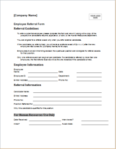 employee reference form document hub