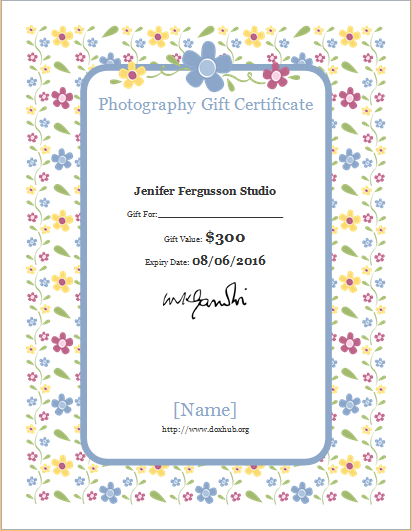 photography gift certificate template - photography gift certificate template for word document hub