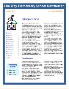 School newsletter template