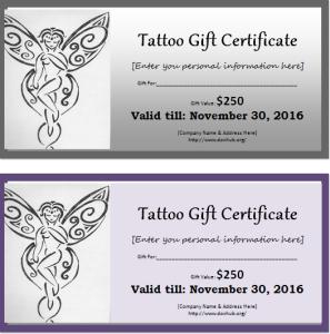 Tattoo gift certificate template document hub tag tattoo gift certificate template yelopaper Choice Image