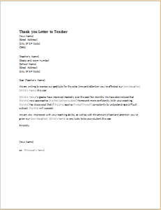 10 academic letter templates for ms word document hub thank you letter to teacher expocarfo Gallery