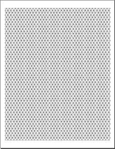 Triangular graph paper