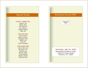 business event announcement brochure