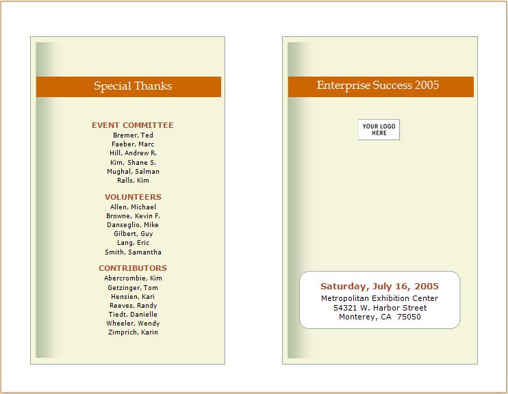 business event announcement brochure template document hub