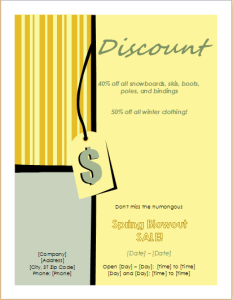 discount sales flyer