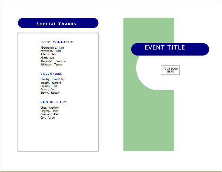 event invitation brochure