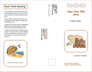 event marketing brochure