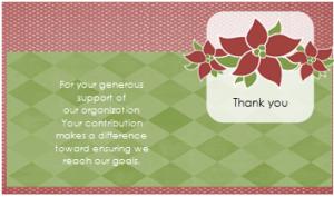 fundraiser thank you card