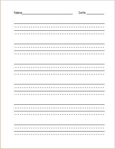 hand wrting practice paper