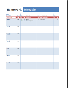 Student Academic Help Templates for WORD and EXCEL | Document Hub