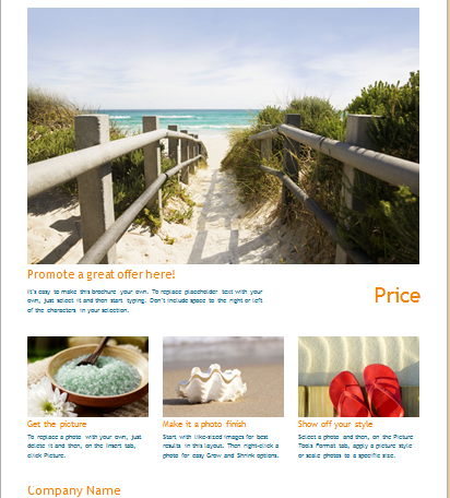 new offer brochure