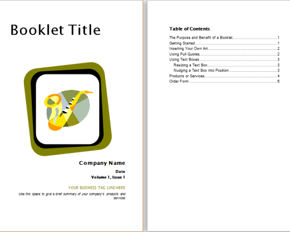 product advertisement booklet