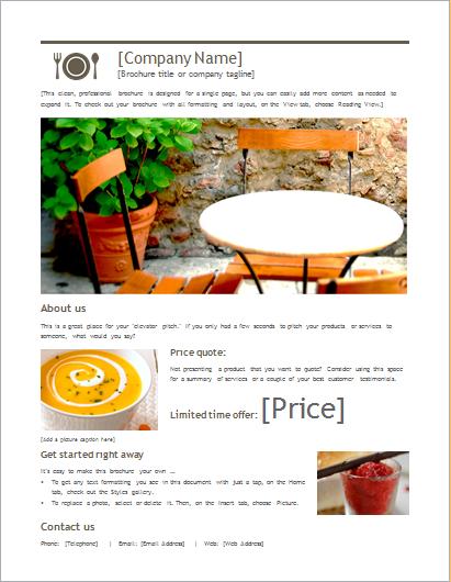 product sale brochure