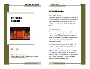 program catalogue brochure