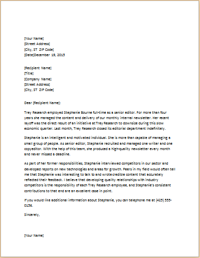 Professional Reference Letter Template Word from www.doxhub.org