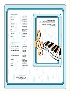 school event program template