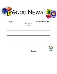 student good news report