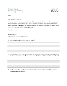 student profile information requesting letter