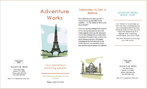 tour services brochure