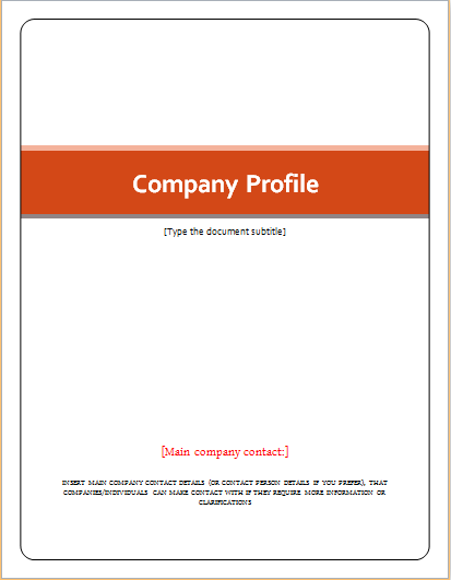 Company Profile Template  Company Profile Format Word Document
