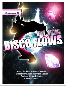 Disco party flyer