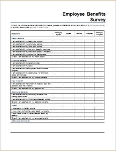Employee benefits survey form