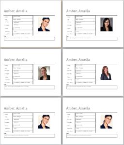 Employee profile template