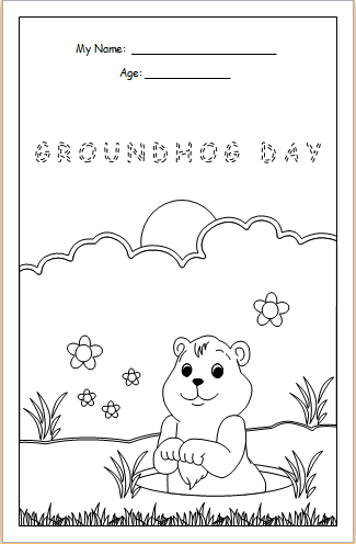 Groundhog Day coloring sheet