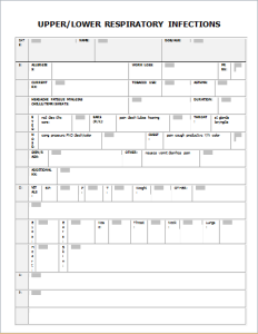Respiratory infection record form