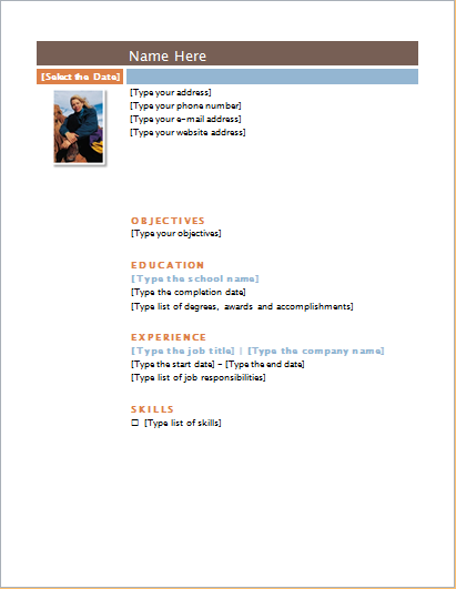 ms word customizable resume layout and templates document hub